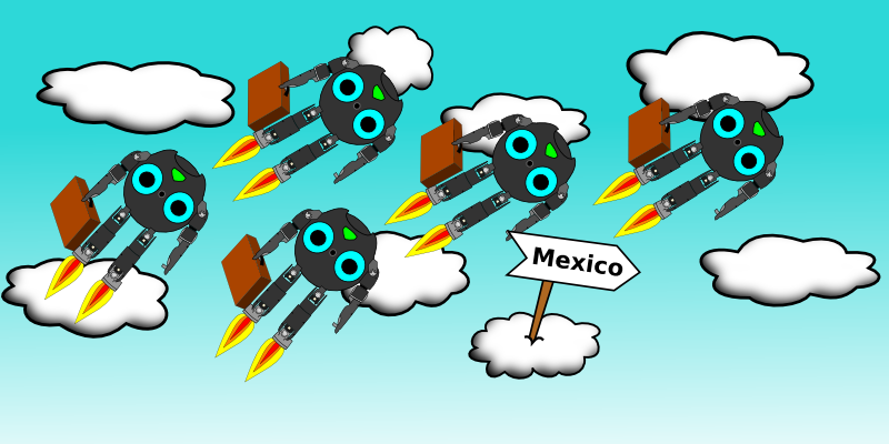picture of Darwins flying towards Mexico