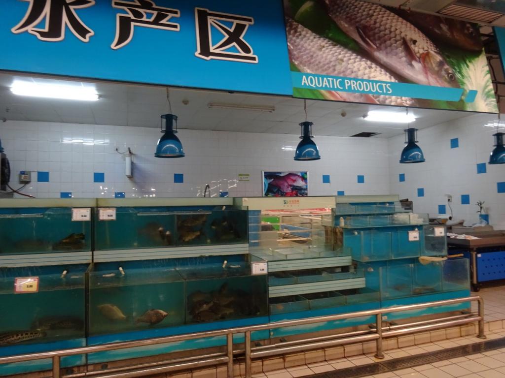 Chinese supermarket: You want it fresh?
